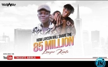 COMEDY VIDEO: Thecute Abiola - How Laycon Will Share The 85 Million - (BBN)